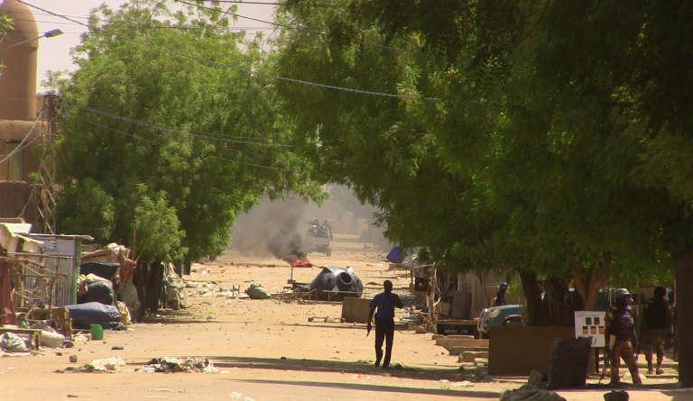 Lors d'une manifestationcontre les«injustices», à Gao, au Mali,le 12 juillet.