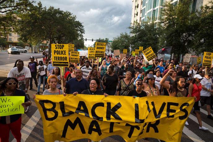 Manifestation à Tampa (Floride) le 11 juillet.