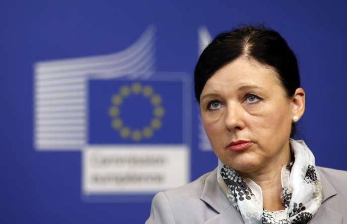 La commissaire européenne à la justice, Vera Jourova, le 12 juillet lors de l'annonce de l'adoption du Privacy Shield.