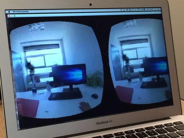 L'univers conçu par C2Care pour lutter contre l'arachnophobie repose sur la photo réelle d'un environnement de travail : l'araignée en 3D y progresse jusqu'à la main du patient.