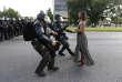 La manifestante Leshia Evans à Baton Rouge, Louisiane le 9 juillet.
