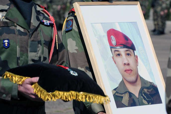 Cérémonie en mémoire d'Abel Chennouf, un des militaires de Montauban tué par Mohamed Merah en2012.