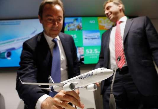 Fabrice Brégier, PDG d'Airbus, au Salon de l'aéronautique deFarnborough.