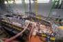 Construction du sous-marin Barracuda à Cherbourg.