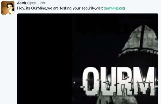 Les pirates informatiques du groupe OurMine ont hacké les comptes Twitter et Vine de Jack Dorsey, directeur général de la célèbre plate-forme de microblogging.