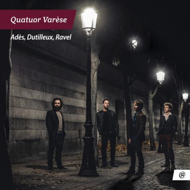 Pochette de l'album« Adès, Dutilleux, Ravel »enregistré par la quatuor Varèse.