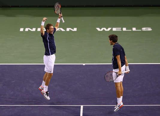 Cette saison, la paire Mahut-Herbert a déjà conquis cinq trophées : les Masters 1000 d'Indian Wells (photo), de Miami et de Monte-Carlo, le Queen's et Wimbledon.