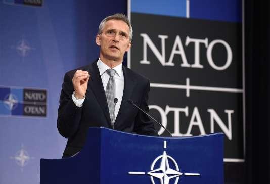 Le secrétaire général, Jens Stoltenberg, lors du conseil OTAN-Russie à Bruxelles, le 13 juillet 2016.