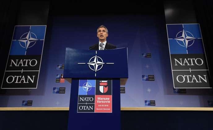 Le secrétaire général de l'OTAN, Jens Stoltenberg, à Varsovie, le 13 juillet 2016.