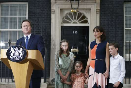 David Cameron lors de sa dernière intervention devant le 10 Downing Street.