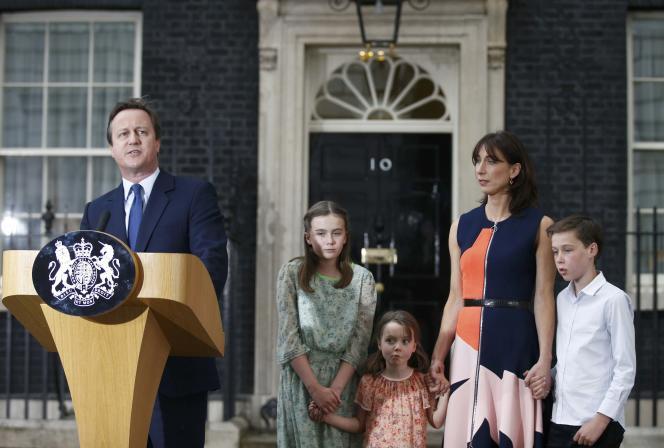 David Cameron lors de sa dernière intervention devant le 10 Downing Street.