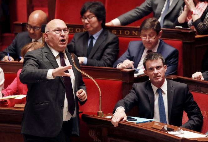 le ministre des finances, Michel Sapin,à l'Assemblée le 13 juillet 2016.