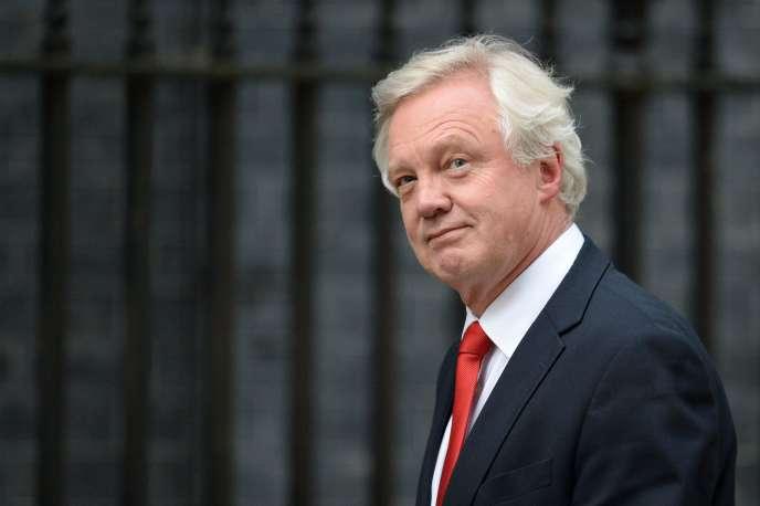 David Davis, le 13 juillet à Londres.