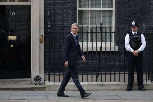 Le nouveau ministre britannique des finances, Philip Hammond, à Londres, le 13 juillet.