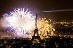 Le feu d'artifice du 14 juillet 2013 à Paris.