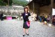 Claudine Gerland lors d'un Fabricol'café à Bagiry (Haute-Garonne), le 11 juin.