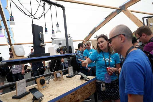 Stand Nest lors de la conférence de Google, auShoreline Amphitheatre en mai, à Mountain View (Californie).