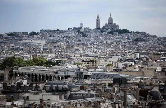 Vue du Sacré Coeur, à Paris.