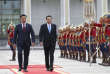 In this photo released by Xinhua News Agency, Chinese Premier Li Keqiang, second from left, and Mongolian Prime Minister Jargaltulga Erdenebat, left, inspect an honor guard during a welcome ceremony in Ulaanbaatar, Mongolia, Thursday, July 14, 2016. Li arrives to Ulaanbaatar to attend the 11th ASEM summit. (Pang Xinglei/Xinhua via AP)