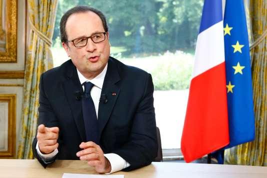 Le président de la République, François Hollande, le 14 juillet.