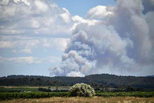 L'incendie dans l'Aude, le mercredi 13 juillet.