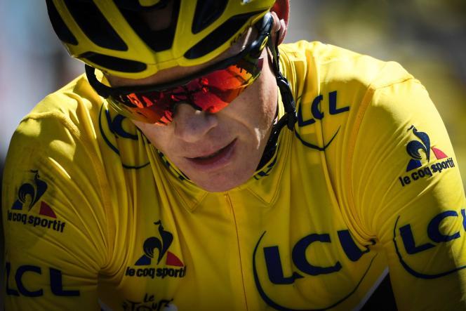 Christopher Froome, ici sur le Tour de France 2016, avait révélé souffrir d'asthme d'effort en juin 2014.