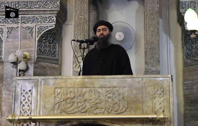 Le« calife»Abou Bakr Al-Baghdadi, ici le 5 juillet 2014, peu après la proclamation du «califat».