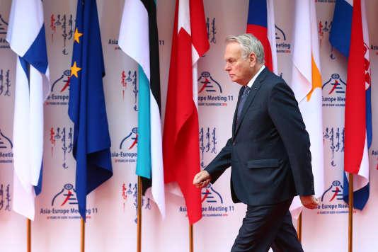 Le ministre des affaires étrangères Jean-Marc Ayrault au 11e sommet du dialogue Asie Europe à Ulan Bator en Mongolie, le 15 juillet 2016