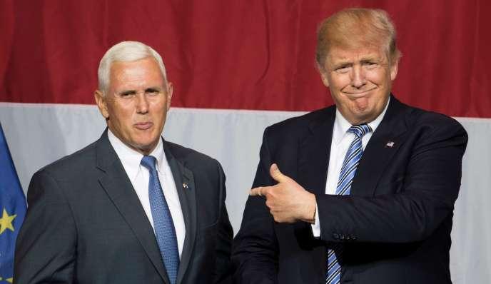Mike Pence et Donald Trump, le 12 juillet à Westfield, Indiana.