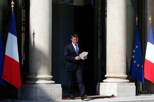 Manuel Valls, le 15 juillet à l'Elysée.