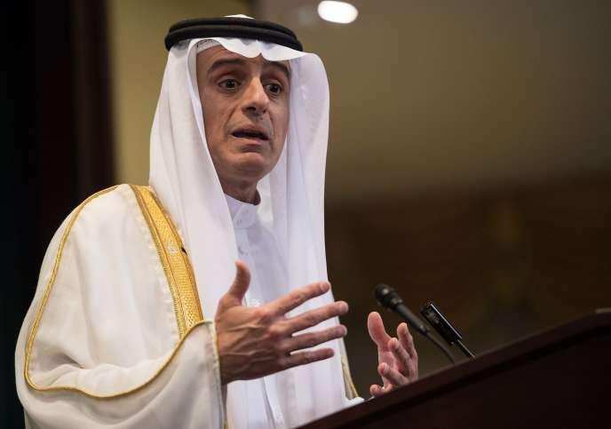 Le ministre des affaires étrangères à la conférence de presse à Washington DC, le 15 juillet.
