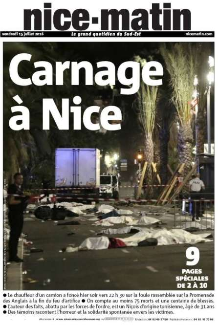 Le quotidien local« Nice-Matin».
