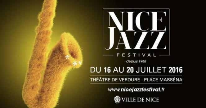 L'affiche du Nice Jazz festival, qui devait se déroule du 16 au 20 juillet 2016.
