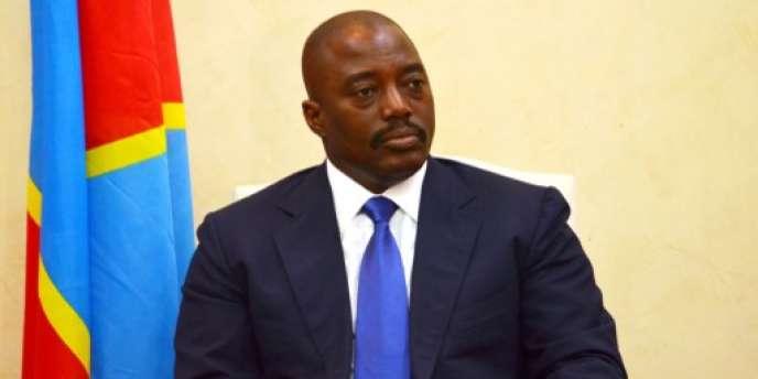 Le président de la République démocratique du Congo, Joseph Kabila, le 19 janvier 2015 à Kinshasa.
