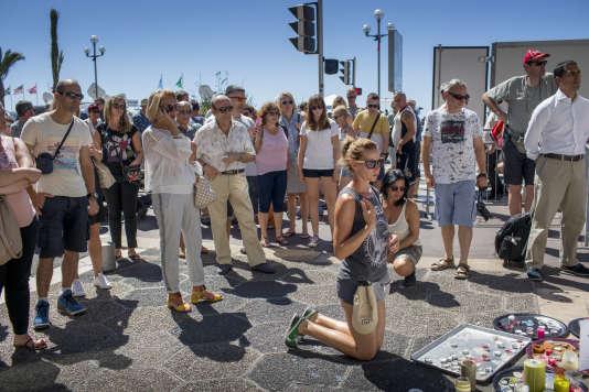 Nice, le 16 juillet 2016. autour de la promenade des Anglais. avant la réouverture.