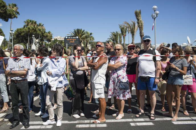 Nice, le 15 juillet 2016, sur la promenade des Anglais.
