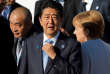 Le premier ministre japonais, Shinzo Abe, le 16 juillet, à son arrivée au sommet du dialogue Europe-Asie à Oulan Bator, en Mongolie.