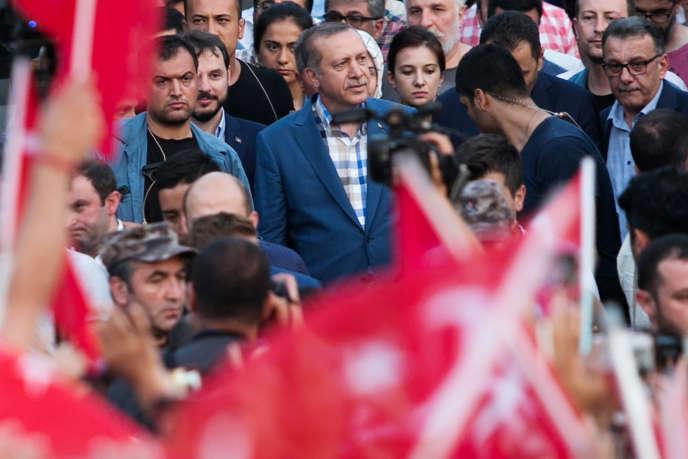 Recep Tayyip Erdodan, à Istanbul le 16 juillet.