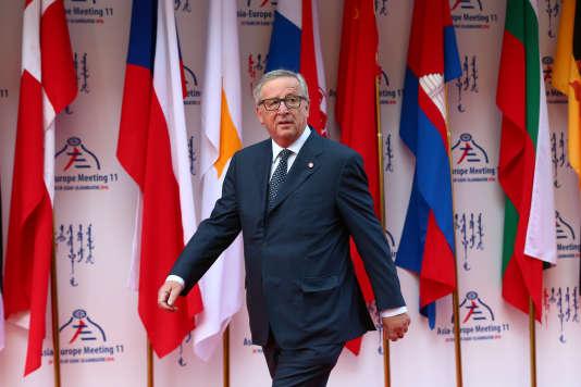 Jean-Claude Juncker, président de la Commission européenne, le 15 juilllet àOulan-Bator, en Mongolie.