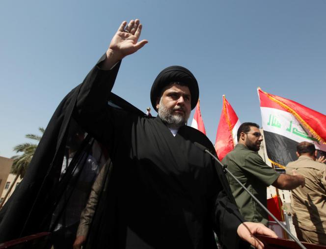 L'imamchiite Moktada Al-Sadr lors d'un rassemblement contre la corruption le15juillet 2016 à Bagdad.