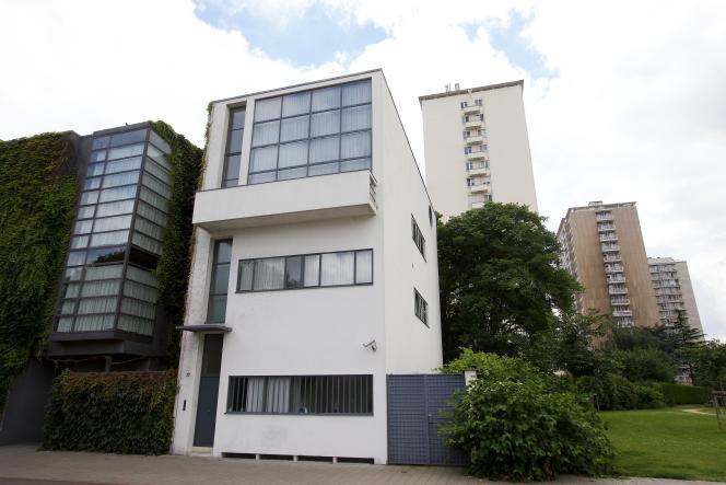 La Maison Guiette, dessinée par Le Corbusier en 1926 et construite en 1927, à Anvers (Belgique).