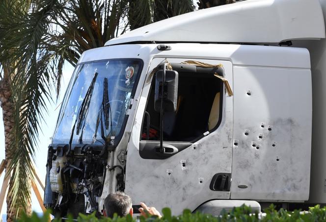 Le camion utilisé parMohamed Lahouaiej Bouhlel pour commettre l'attentat.