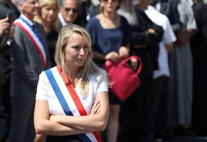 La députée FN du Vaucluse, Marion Maréchal-Le Pen, à Nice le 18 juillet.