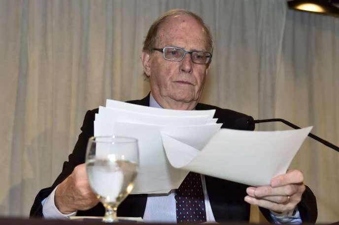 Le professeur canadien de droit Richard McLaren devrait publier une version finale de son rapport en septembre.