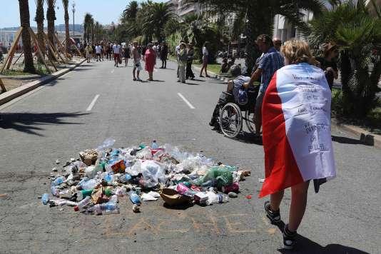 Journée d'hommages aux victimes de la tuerie de Nice, le 18juillet.