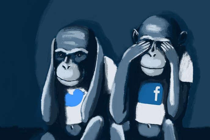 Plusieurs associations négocient avec les deux géants du Web une procédure pour mieux signaler et lutter contre les contenus illégaux présents sur les réseaux sociaux.