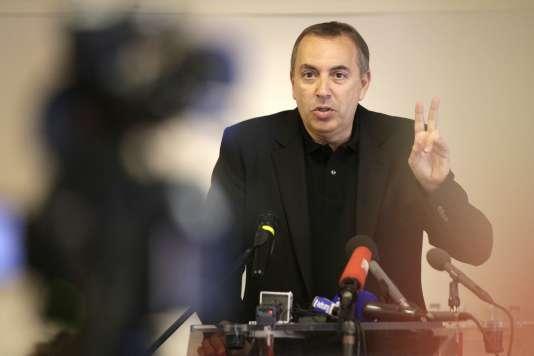 Le journaliste et animateur Jean-Marc Morandini, ici lors d'une conférence de presse à Paris le 19 juillet 2016,est accusé d'avoir organisé des castings dénudés pour une websérie.