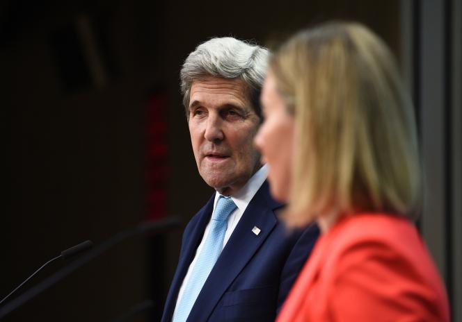 John Kerry et Federica Mogherini à Bruxelles.