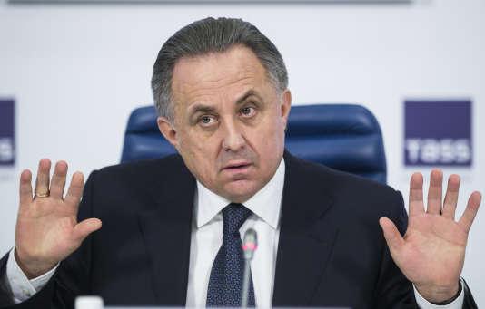Vitali Moutko, durant une coinférence de presse en décembre 2015.