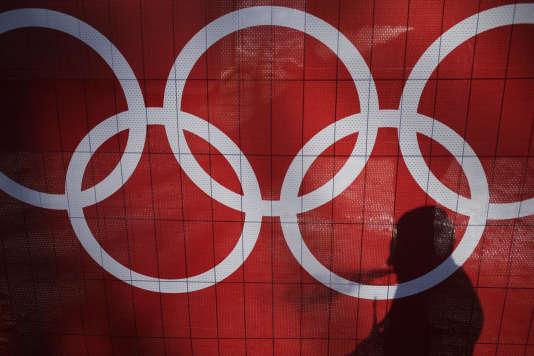 Les anneaux olympiques durant les Jeux de Sotchi en 2014.